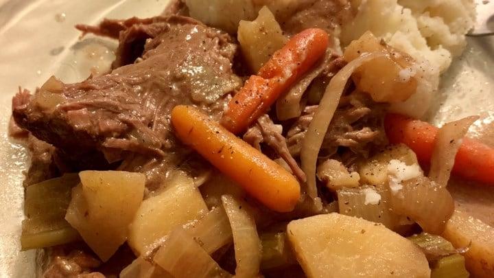Three Packet Slow Cooker Roast