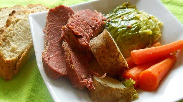 Irish Baked Corned Beef & Cabbage