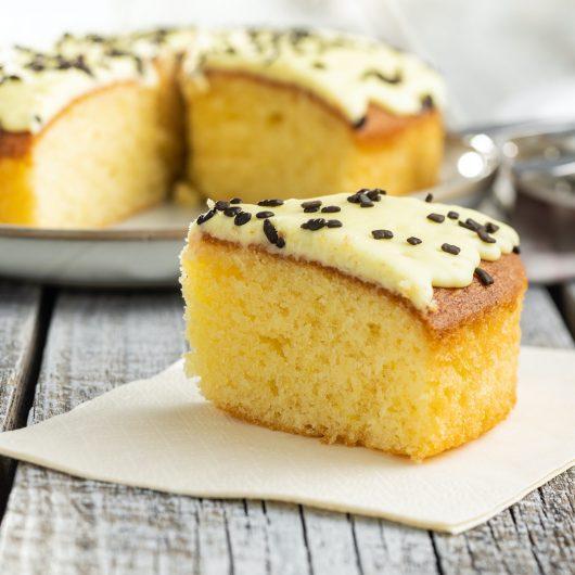 Lemon Vanilla Shortcut Cake