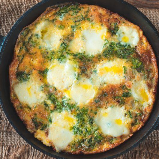 Sausage & Mozzarella Frittata