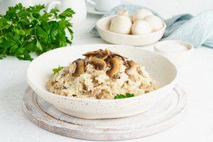 Mushroom Parmesan Risotto
