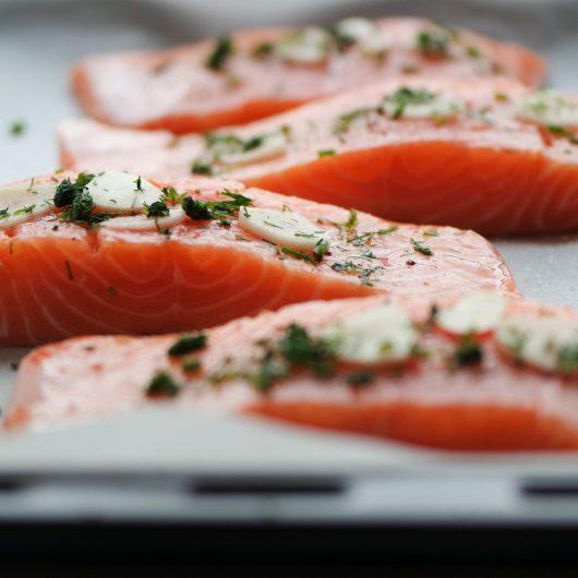 Herb Garlic Baked Salmon