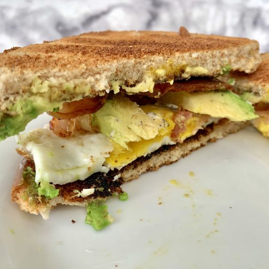 Bacon, Avocado and Egg Breakfast Sandwich