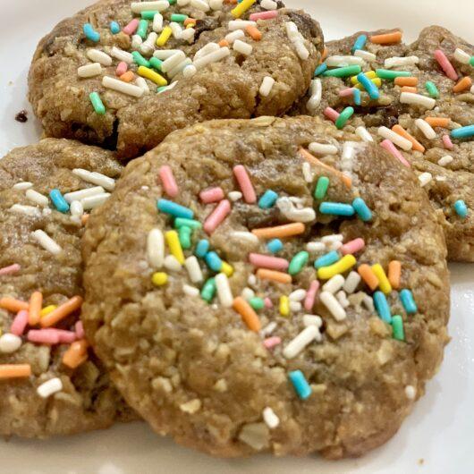Easter Pastel Sprinkle Chocolate Chip Cookies
