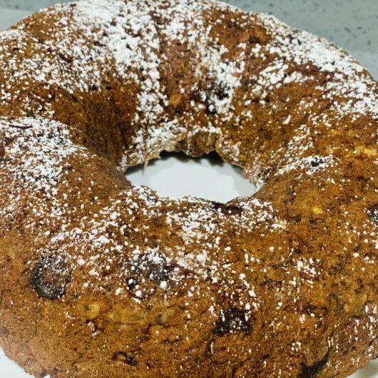 Chocolate Chip Almond Banana Bundt Cake