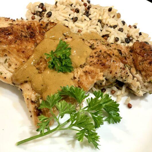 Seared Turkey Cutlets with Dijon Gravy